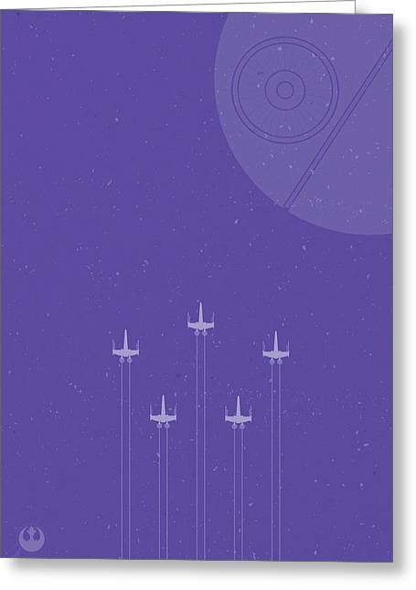 X-wing Attack Greeting Card