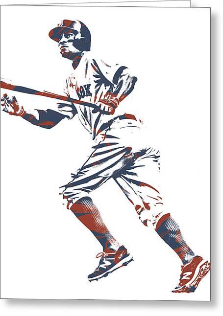 Xander Bogaerts Boston Red Sox Pixel Art 10 Greeting Card