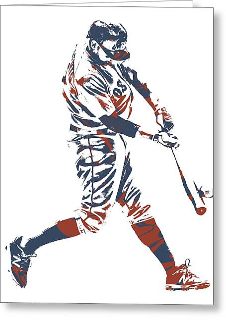 Xander Bogaerts Boston Red Sox Pixel Art 11 Greeting Card