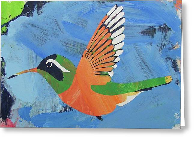 Greeting Card featuring the painting Xantus Hummingbird by Candace Shrope
