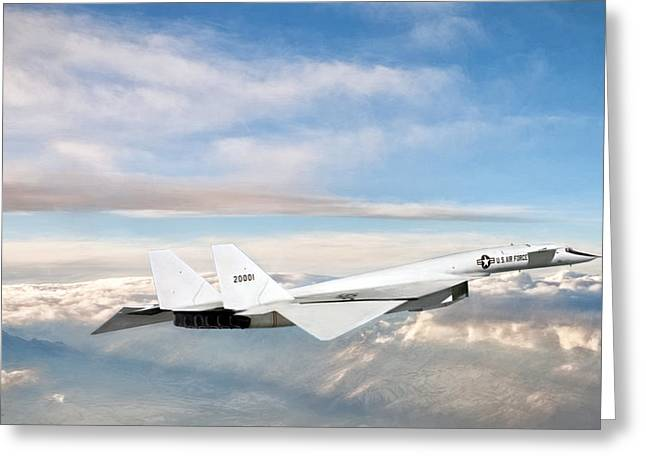 Xb-70 Valkyrie Greeting Card by Peter Chilelli