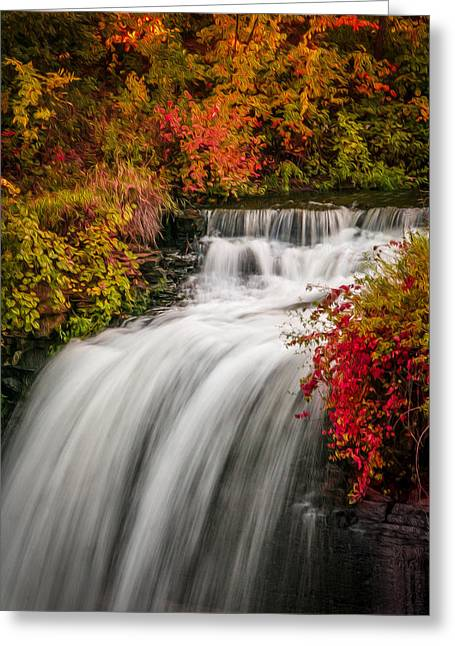 Fall At Minnehaha Falls Greeting Card