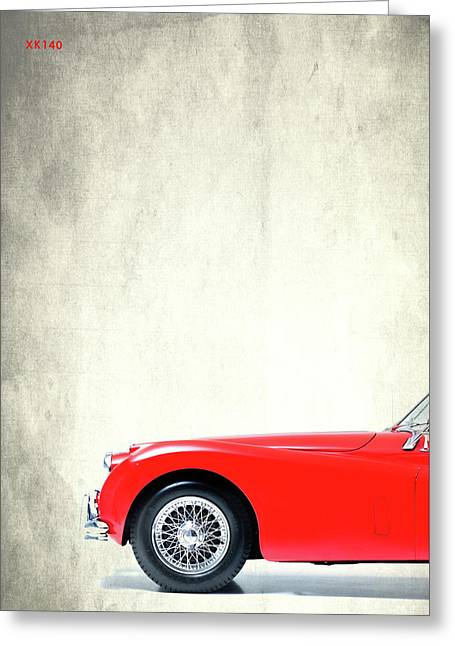 Xk140 Greeting Card by Mark Rogan