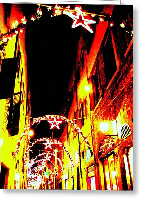 X'mas In Florence Greeting Card
