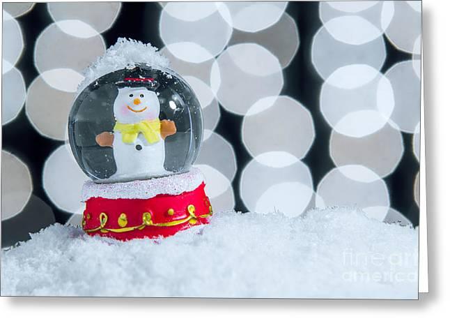 Xmas Snow Globe Greeting Card by Carlos Caetano