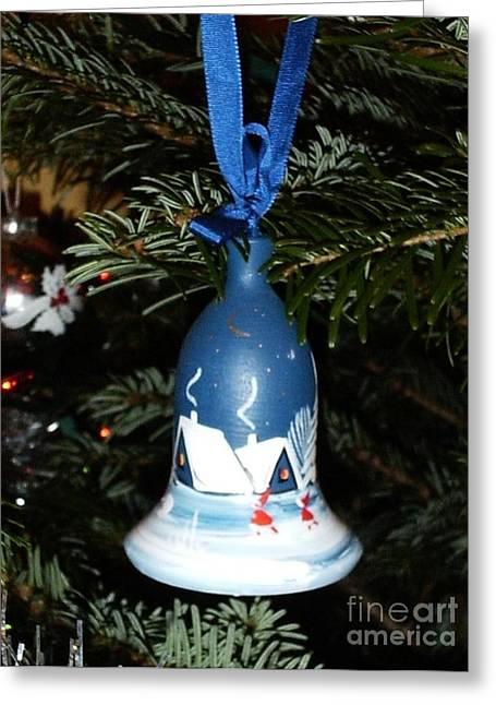 Xmas Tree Decorations Greeting Card by Deborah Brewer