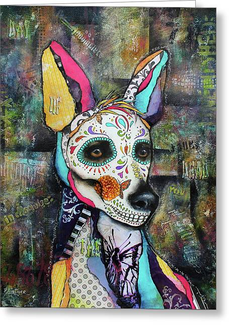 Xolo Mexican Hairless Day Of The Dead Greeting Card