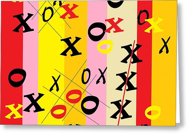X's And O's Greeting Card