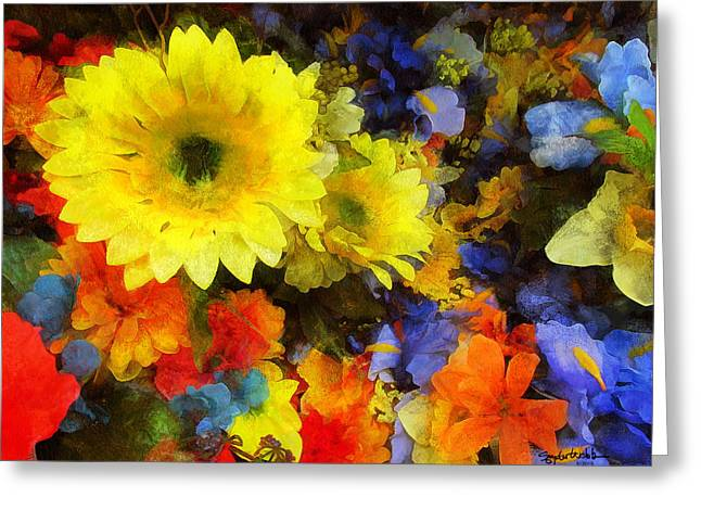 Xtreme Floral Seventeen Into The Depths Greeting Card by Spyder Webb