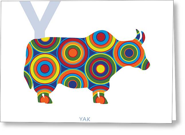 Y Is For Yak Greeting Card