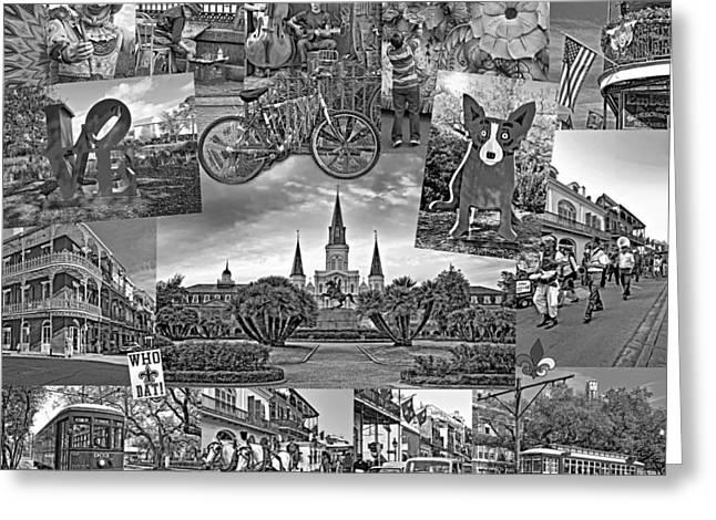 Ya Gotta Love New Orleans - Bw Greeting Card