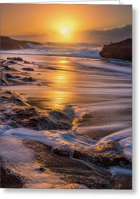 Greeting Card featuring the photograph Yachats' Sun by Darren White