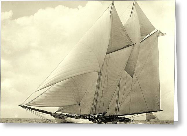 Padre Art Greeting Cards - Yacht America 1910 Greeting Card by Padre Art