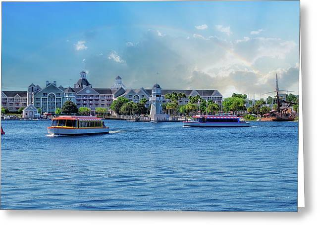 Yacht And Beach Club Walt Disney World Greeting Card by Thomas Woolworth