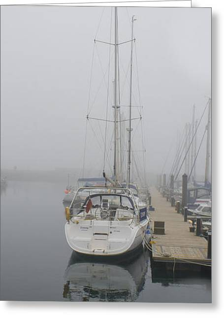 Yacht Doesn't Go In The Fog Greeting Card