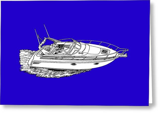 Yacht On A Shirt Greeting Card by Jack Pumphrey