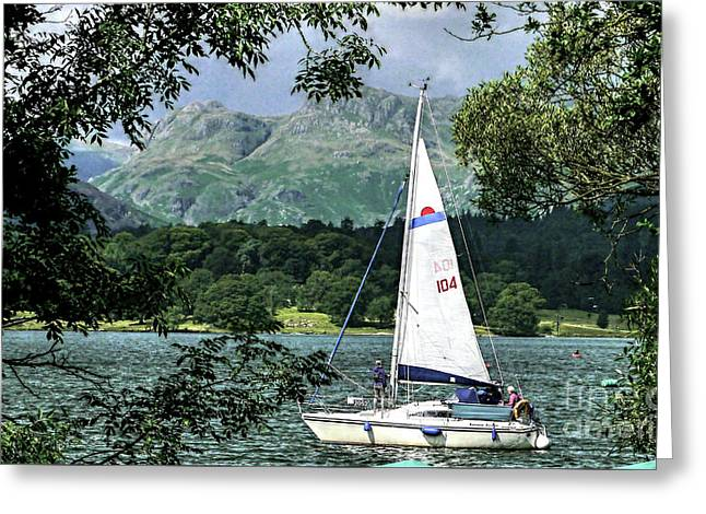 Yachting Lake Windermere Greeting Card