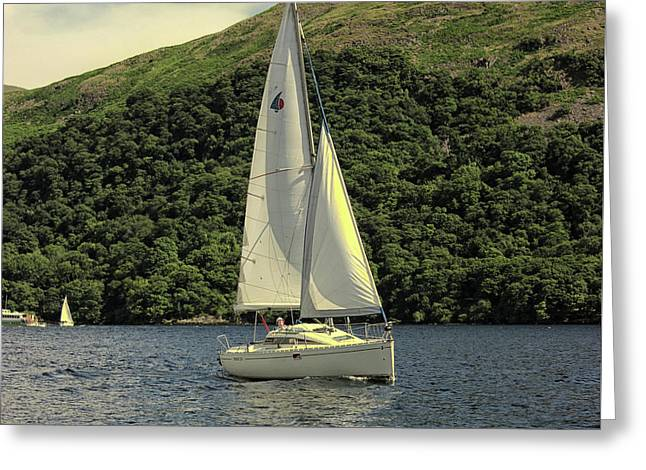 Yachting On The Lakes Greeting Card