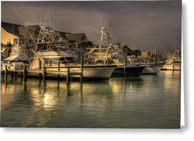 Yachts In Hdr Greeting Card