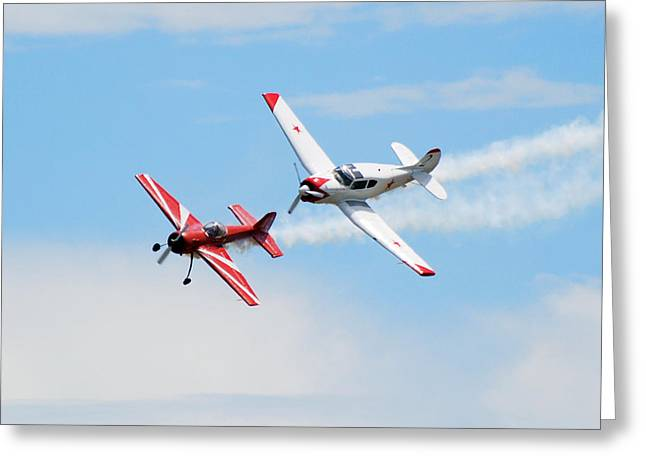 Yak 55 And Yak 18 Greeting Card by Larry Keahey