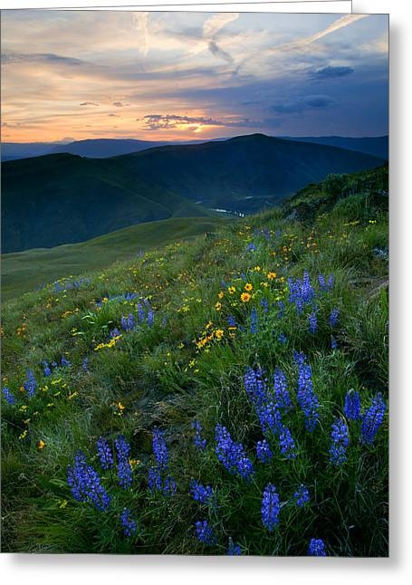 Yakima River Canyon Sunset Greeting Card