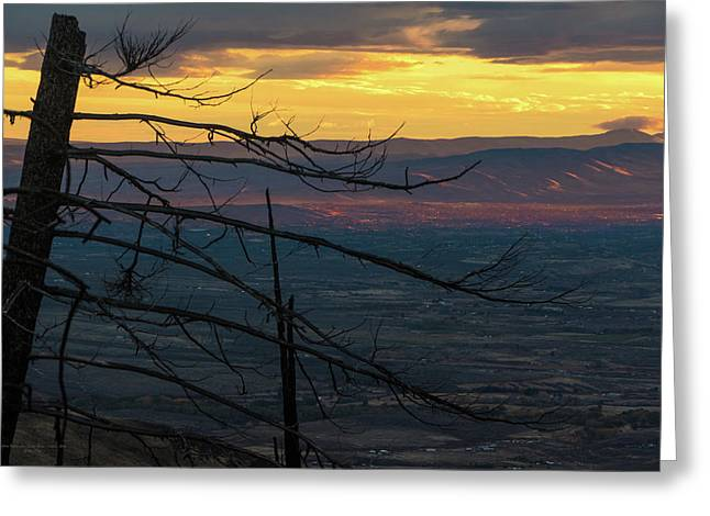 Yakima Valley From Sedge Ridge Greeting Card