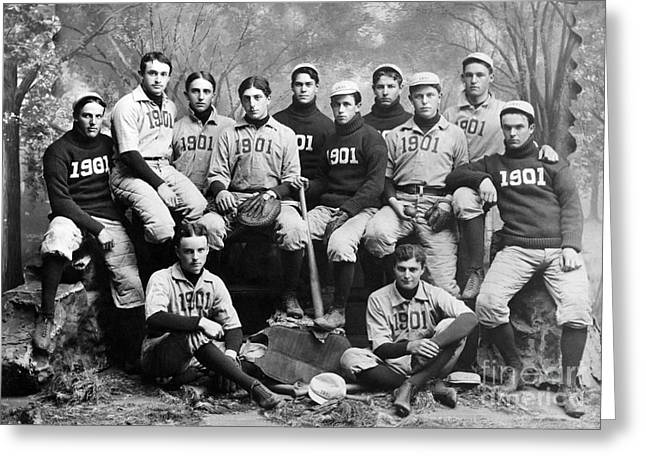Yale Baseball Team, 1901 Greeting Card