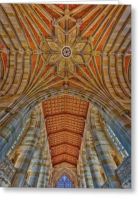 Greeting Card featuring the photograph Yale University Sterling Library by Susan Candelario