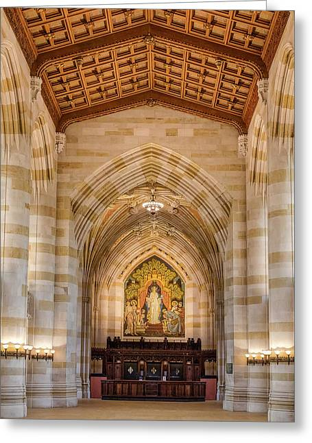 Greeting Card featuring the photograph Yale University Sterling Memorial Library by Susan Candelario