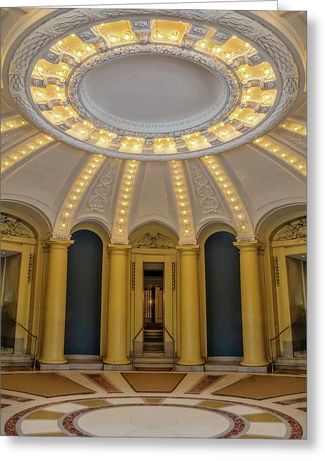 Greeting Card featuring the photograph Yale University Woolsey Hall by Susan Candelario