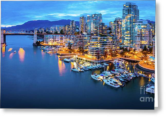 Yaletown Panorama Greeting Card by Inge Johnsson