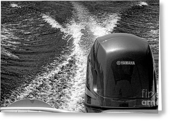 Yamaha Power Greeting Card by Olivier Le Queinec