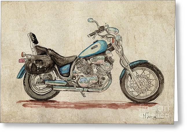 Yamaha Xv 1100 Virago Greeting Card