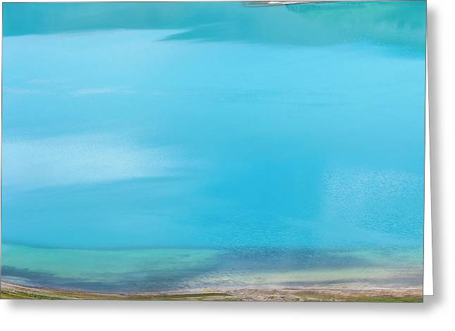 Greeting Card featuring the photograph Yamdrok Abstract 2, Tibet, 2007 by Hitendra SINKAR