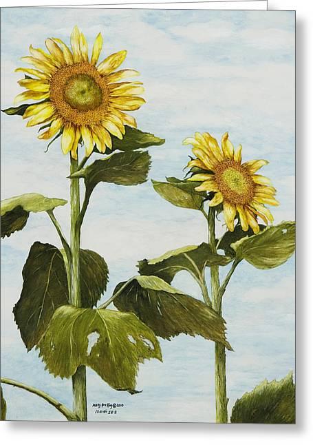 Yana's Sunflowers Greeting Card