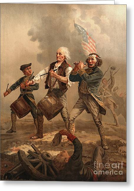 Yankee Doodle 1876 Greeting Card by Padre Art