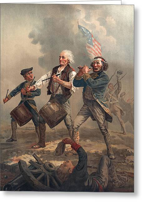 Yankee Doodle Or The Spirit Of 76 Greeting Card by Archibald Willard
