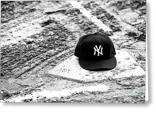 Yankee Home Greeting Card by John Rizzuto