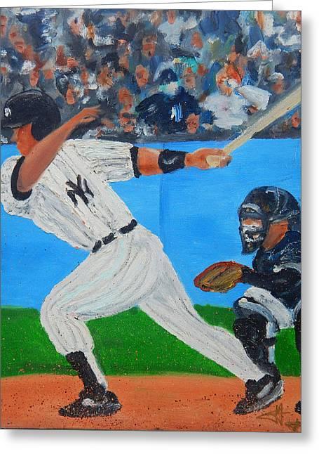 Yankee Jorge Borinquen Pride Greeting Card by Jorge Delara