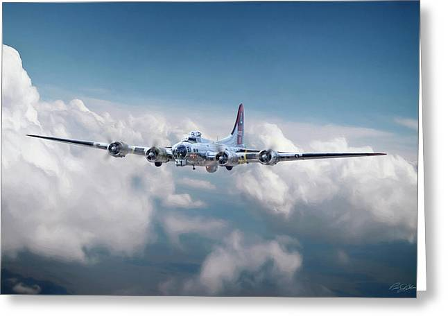 Yankee Lady B-17 Greeting Card