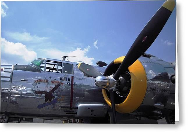 Greeting Card featuring the photograph Yankee Raider B-25  by Don Struke
