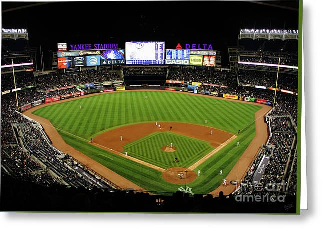 Yankee Stadium 1 Greeting Card by Nishanth Gopinathan
