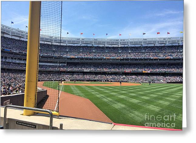 Yankee Stadium_right Field1 Greeting Card by All Island Promos