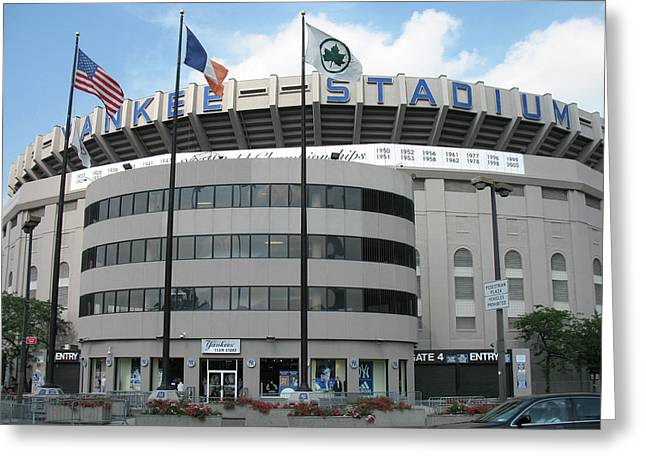 Yankee Stadium - New York Greeting Card by Daniel Hagerman