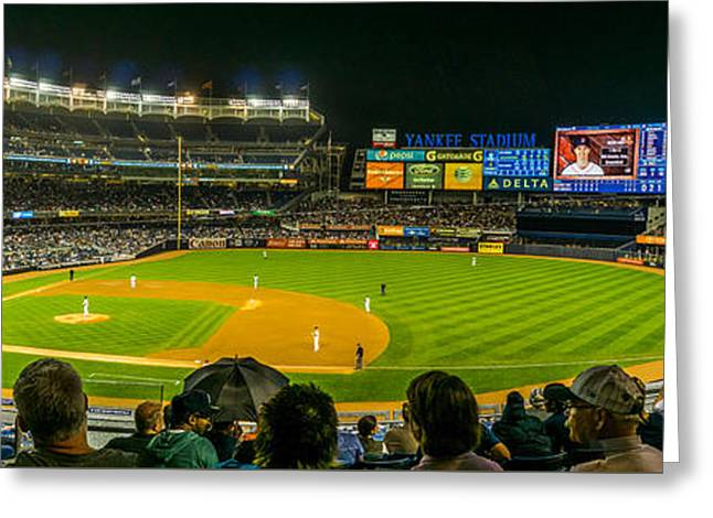 Yankee Stadium Greeting Card by TL  Mair