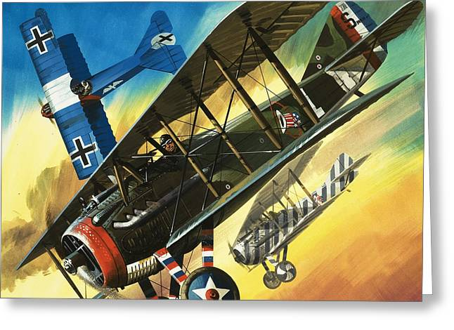Yankee Super Ace Edward Rickenbacker Greeting Card by Wilf Hardy