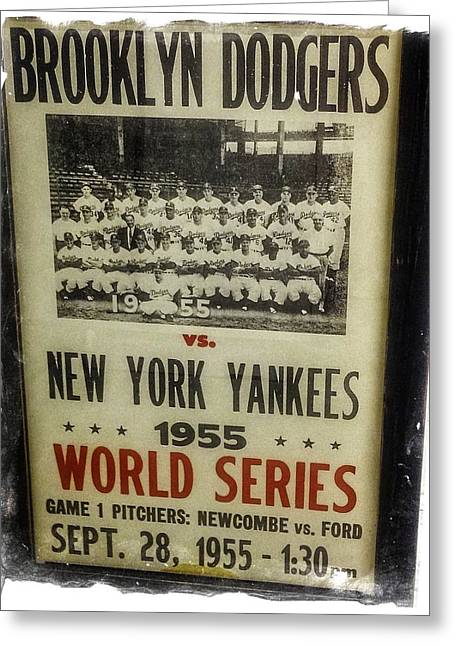 Yankees And Dodgers World Series 1955 Greeting Card