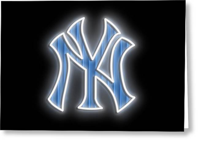 Yankees Neon Sign Greeting Card