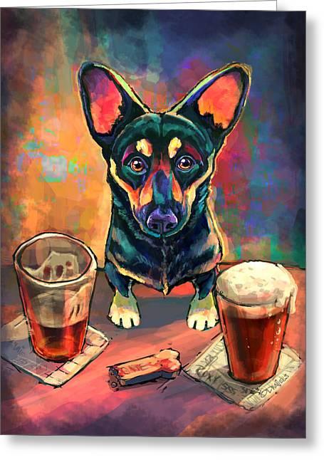 Yappy Hour Greeting Card by Sean ODaniels