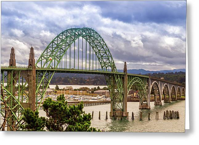 Greeting Card featuring the photograph Yaquina Bay Bridge by James Eddy